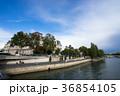 アルコル橋から見るセーヌ川とパリ市庁舎の風景 36854105
