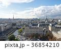 ノートルダム大聖堂から見るパリ市街の風景 36854210