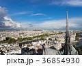 ノートルダム大聖堂の尖塔とパリ市街の風景 36854930