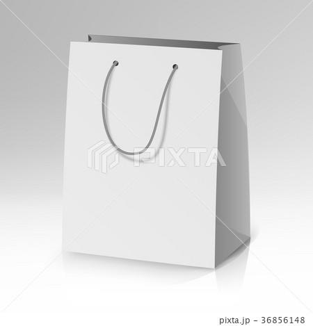 blank paper bag template vector のイラスト素材 36856148 pixta