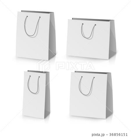 blank paper bag template vector のイラスト素材 36856151 pixta