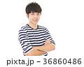 男性 笑顔 ビジネスマンの写真 36860486
