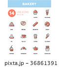 Bakery concept - line design icons set 36861391