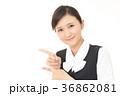 女性 ビジネスウーマン 指差しの写真 36862081