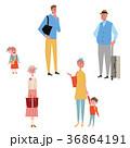 家族 旅行 イラスト 人々 36864191