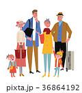 人物 家族 旅行のイラスト 36864192