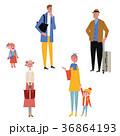 人物 家族 旅行のイラスト 36864193