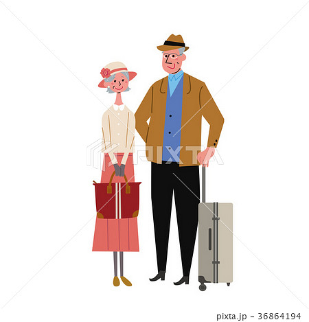 高齢夫婦 旅行 イラスト  36864194