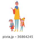 親子 母親 こども イラスト 36864245