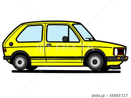 ジャーマンベーシックカー 黄色  自動車イラスト 36865727