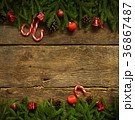 Christmas border with fir tree branches 36867487