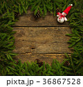 Christmas tree branches with snowman 36867528