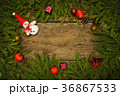 Christmas border with fir tree branches 36867533