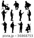 音楽 ミュージシャン 楽器のイラスト 36868753