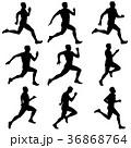 ランナー 走者 セットのイラスト 36868764
