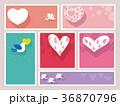 バレンタイン カード フレームのイラスト 36870796