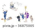 北斎漫画 浮世絵 葛飾北斎のイラスト 36875005