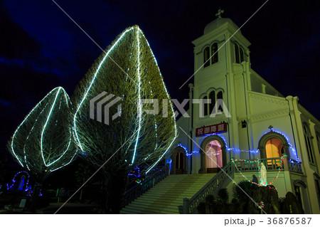 紐差教会 平戸 クリスマスイルミネーション 長崎の教会群 36876587