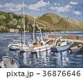 油絵 下多賀 港のイラスト 36876646