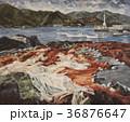 油絵 漁港 港のイラスト 36876647