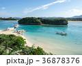 川平湾 海 砂浜の写真 36878376