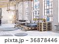 attic living room interior 36878446
