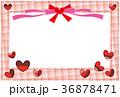 ハート バレンタイン フレームのイラスト 36878471