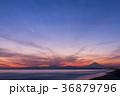 富士山 夕焼け 海の写真 36879796