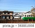 阪堺電車 住宅街 路面電車の写真 36881008