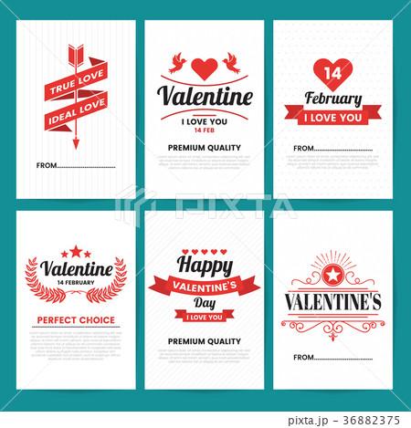 valentine template banner vector backgroundのイラスト素材 36882375