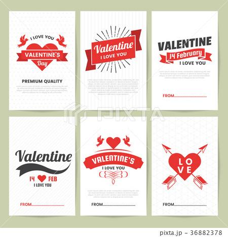 valentine template banner vector backgroundのイラスト素材 36882378