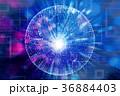 光 輝き テクノロジーのイラスト 36884403
