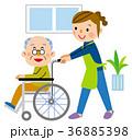 介護 車椅子 訪問介護のイラスト 36885398