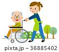 介護 車椅子 訪問介護のイラスト 36885402