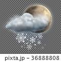 アイコン クラウド 天気のイラスト 36888808