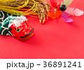 正月イメージ 獅子舞 稲穂 初春 36891241