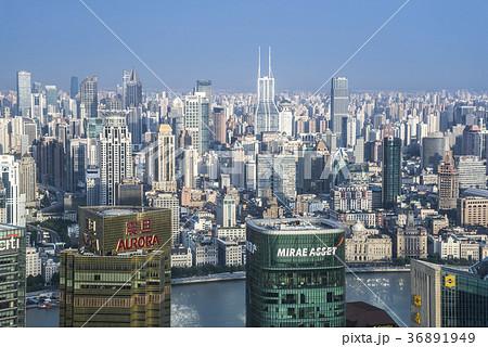 上海外灘方面を望む 36891949