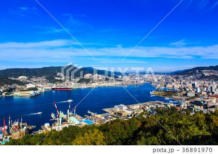 鍋冠山展望台 長崎港の眺め 36891970
