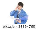 男性 労働者 電話の写真 36894765
