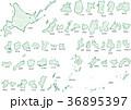 日本地図クレヨン 36895397