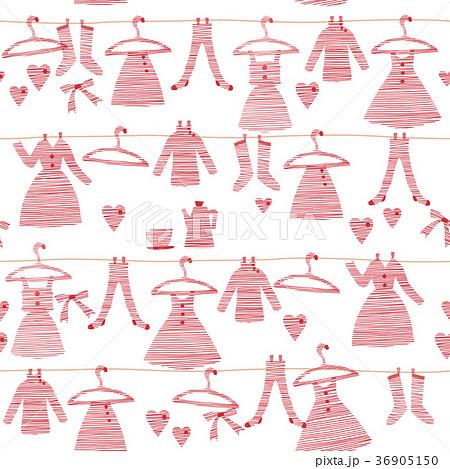 可愛い服のパターンのイラスト素材 36905150 Pixta