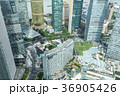 上海浦東の高層ビル群を見下ろす 36905426