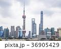 外灘より浦東のシンボルタワーと超高層ビル群を見る 36905429