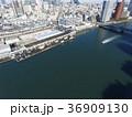 ドローン空撮・築地市場・隅田川・見下ろし 36909130