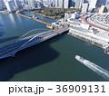 ドローン空撮・築地市場・隅田川・築地大橋見下ろし 36909131