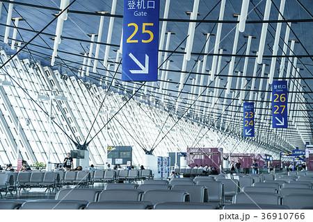 上海浦東国際空港搭乗口風景 36910766