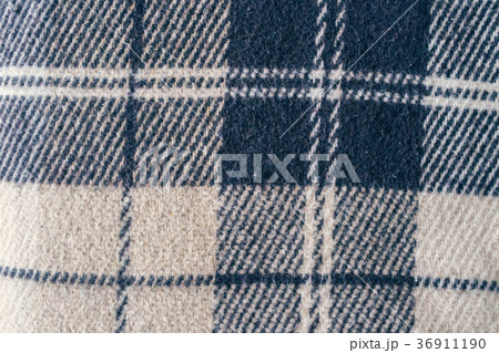Wool large blanket. grey fabric texture backgroundの写真素材 [36911190] - PIXTA