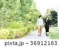 男女 新緑 歩道の写真 36912163
