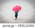 hmong girl with big red umbrella in Sa Pa 36912460
