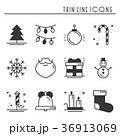 クリスマス アイコン 人影のイラスト 36913069